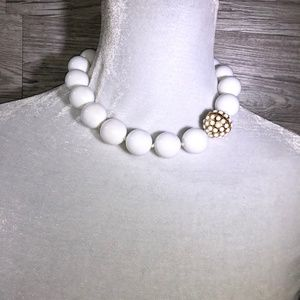 Banana Republic White Large Bead Necklace